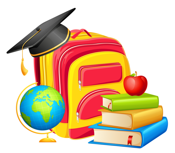 School_Backpack_and_Decorations_PNG_Clipart